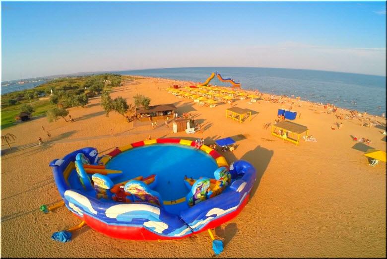 фото Городского пляжа с высоты