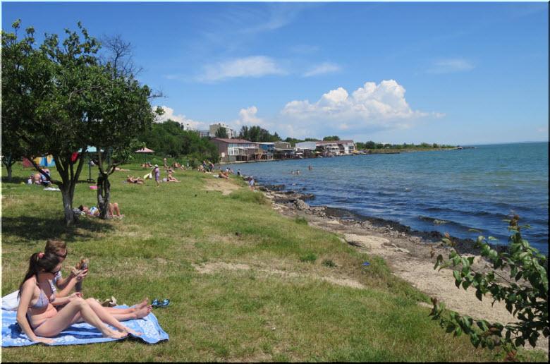 фото отдыхающих на пляже Черепашка