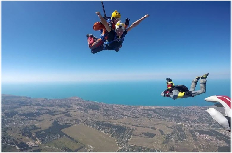 прыжки с парашютом в балке Юхарина