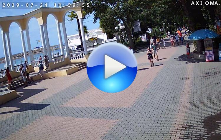 веб-камера у ротонды на набережной