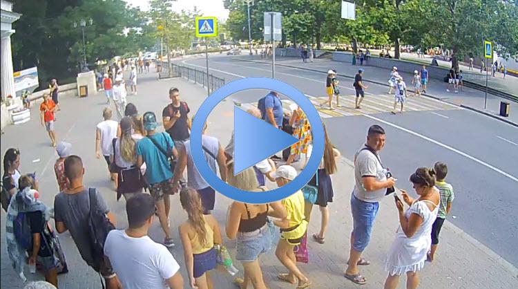веб-камера на остановке Площадь Нахимова