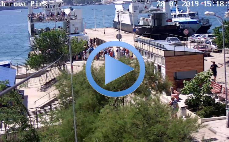веб-камера на пирсе Северной Стороны