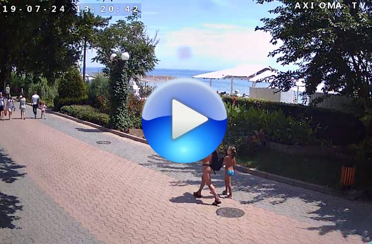 веб-камера у пляжа на набережной Горького
