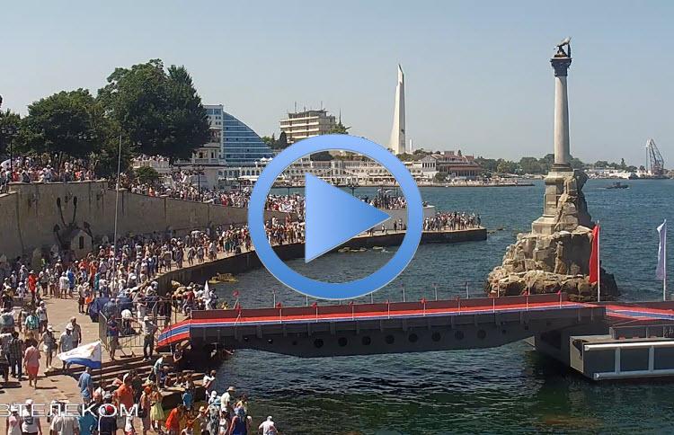 веб-камера у памятника Затопленным кораблям