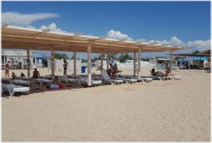 пляж Родничок в Евпатории