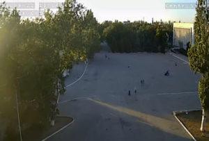фото с камеры на городской площади Красноперекопска