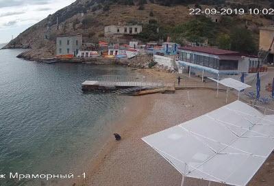 фото с веб-камеры на Мраморном пляже
