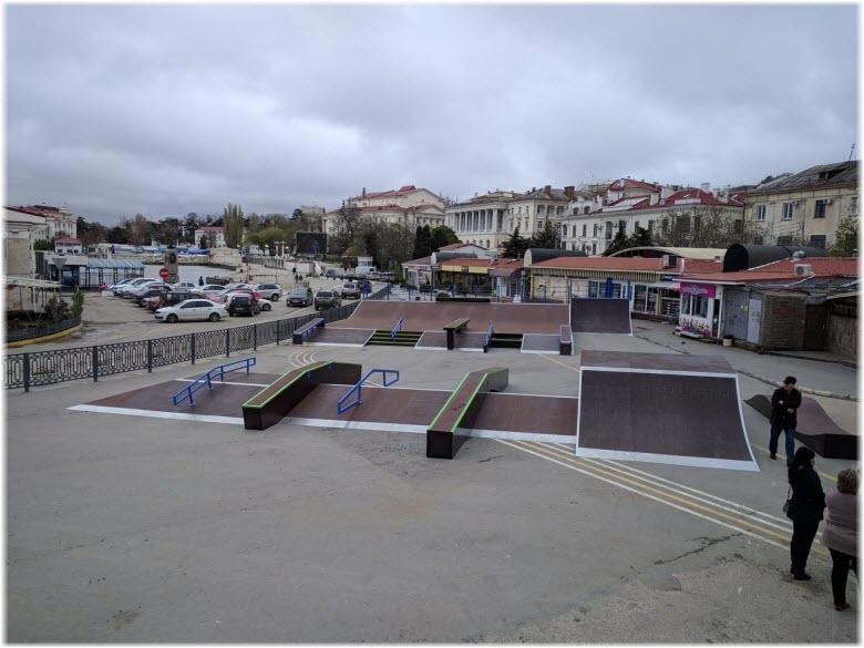 фото скейтпарка в Артбухте