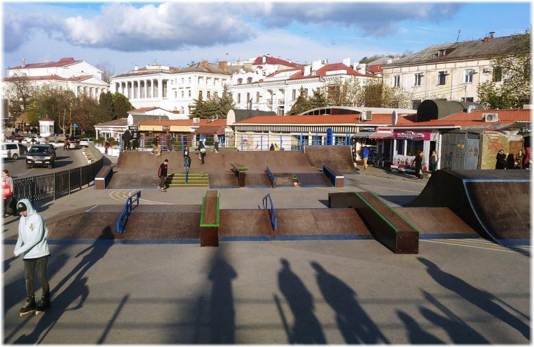 самый большой в Крыму скейт-парк