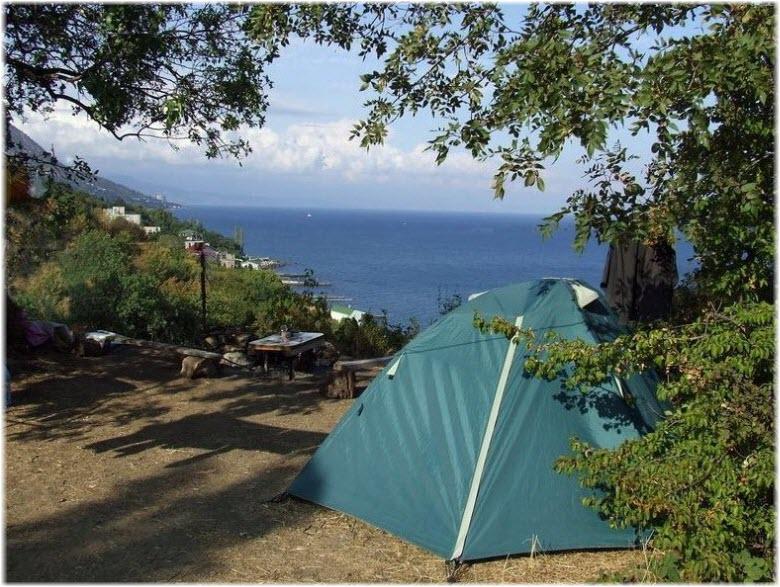 отдых на ЮБК с палаткой