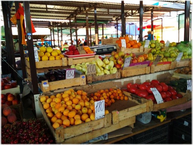 продукты на Крымском рынке