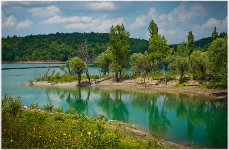 красоты Счастливенского водохранилища