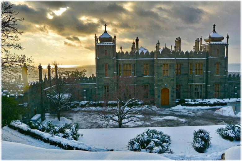Воронцовский дворец зимой