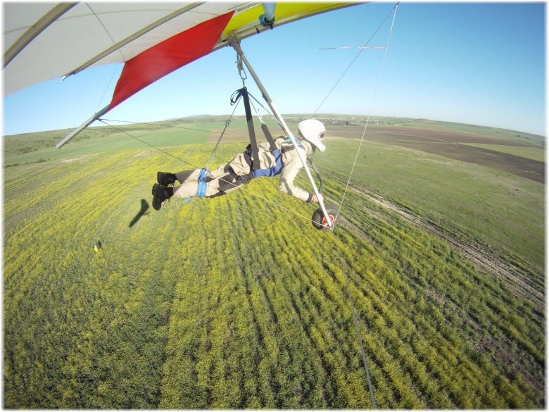 полеты над полями Крыма