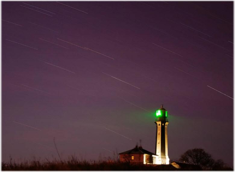 ночной Кыз-Аульский маяк
