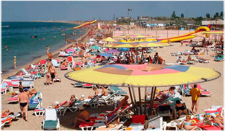 туристы на пляжах Стерегущего