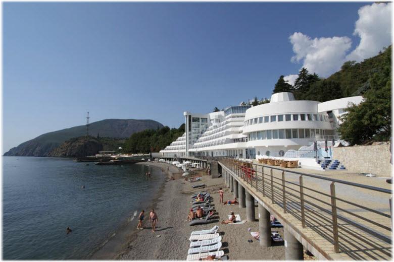 Пляж у отеля «Европа»