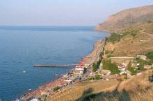 поселки Крыма на берегу моря