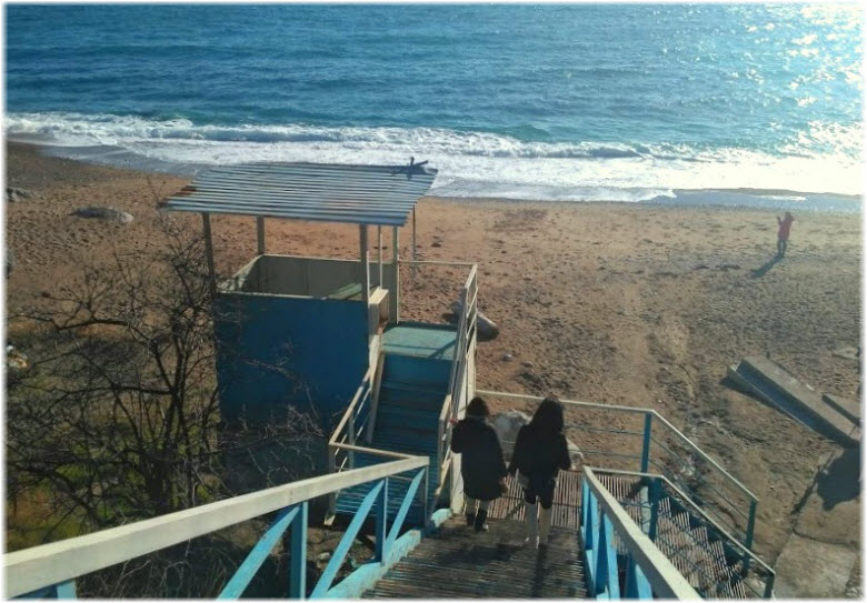 спуск к пляжу Таврида
