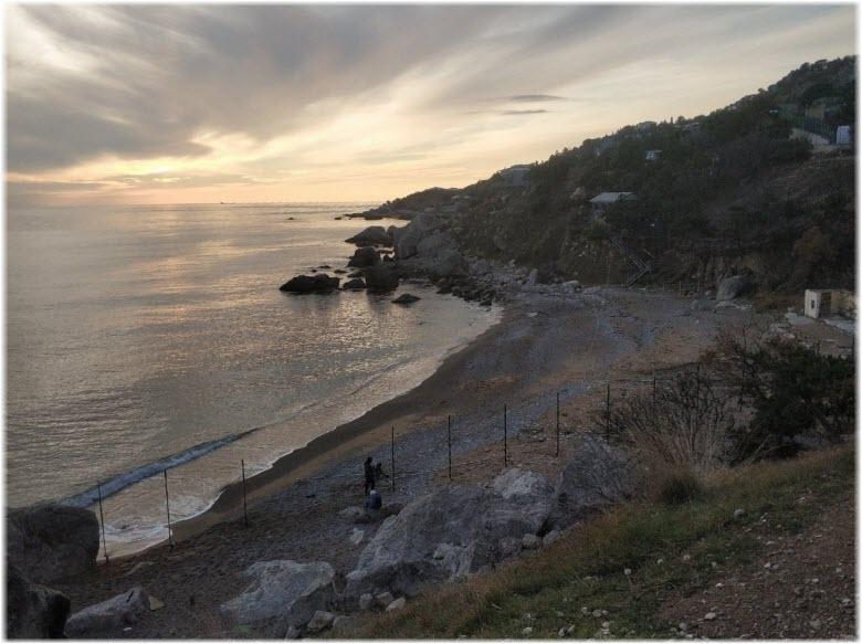 вечерний пляж Таврида
