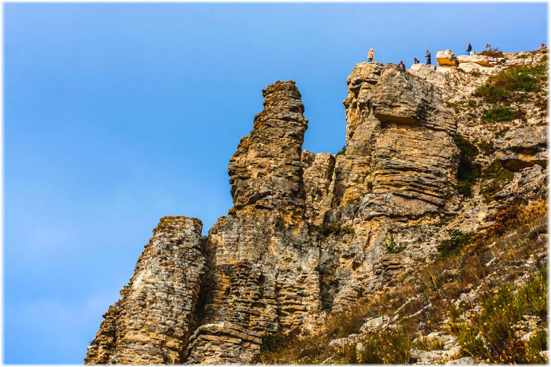 туристы на горе Коклюк