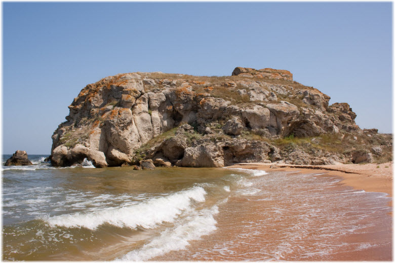 пляж на мысе Салачик