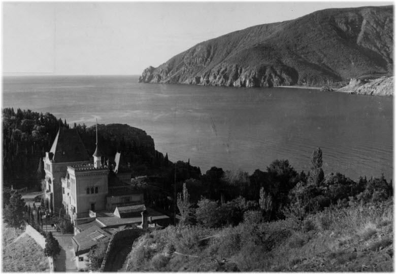 старое фото усадьбы Кучук-Ламбат