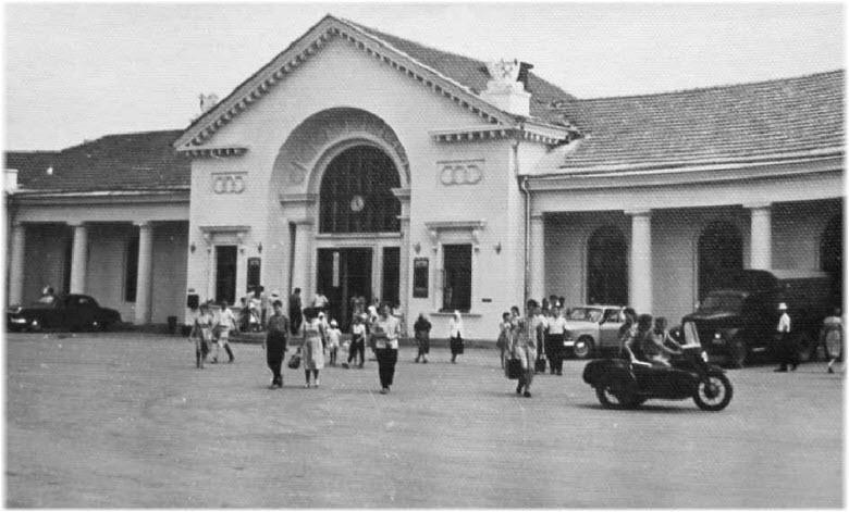 старое фото вокзала Феодосии
