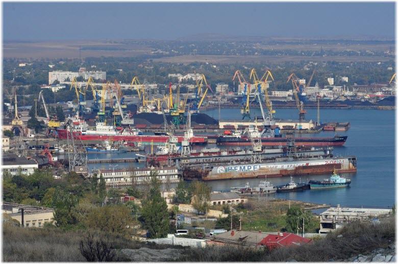 виды Керченского порта