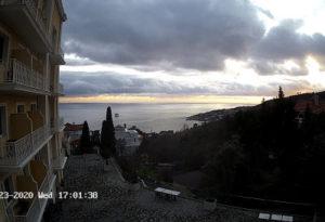 фото с веб-камеры отеля Голубой Залив