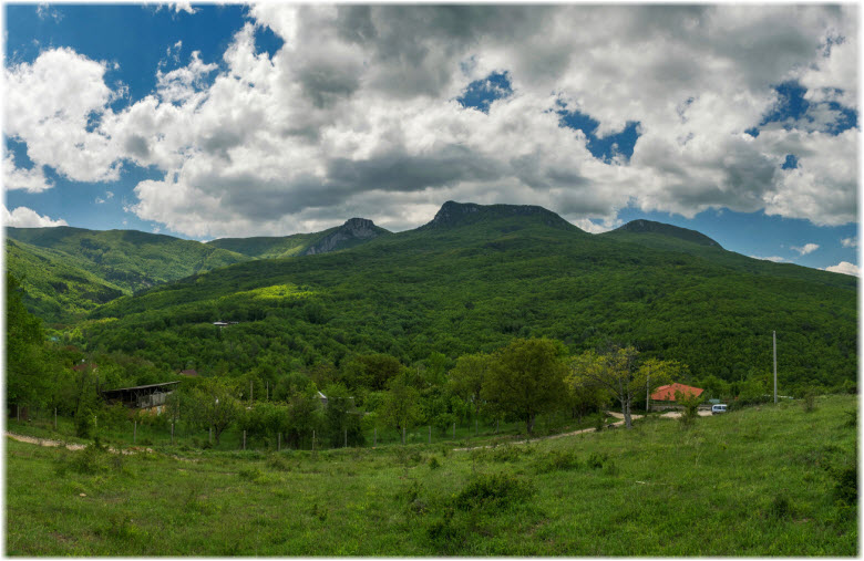 панорама села Многоречье