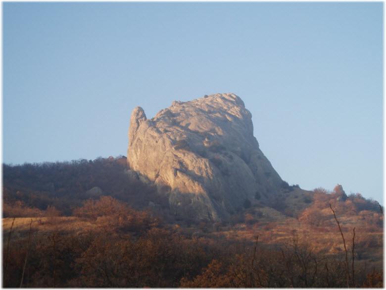 профиль горы Курбан-Кая