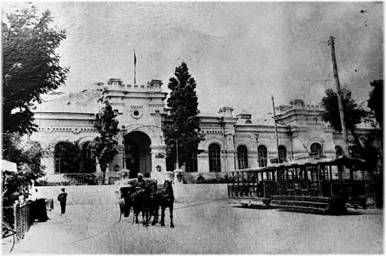 старое фото вокзала