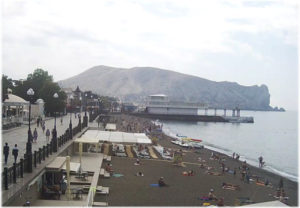 пляж ГИМС в Судаке
