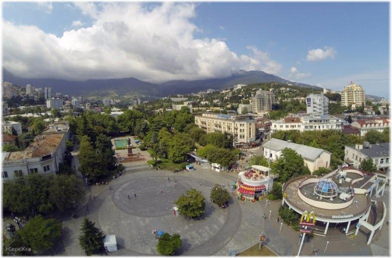 фото площади Ленина с высоты