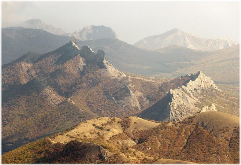 хребет Таракташ в Судаке